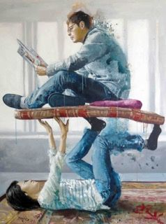 The Student by Fintan Magee at Galleria Varsi