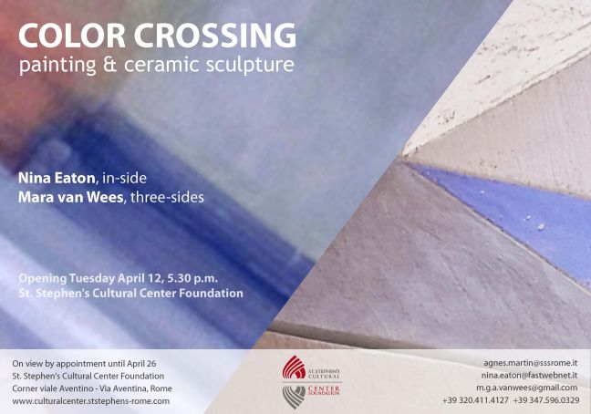Color Crossing: painting & ceramic sculpture