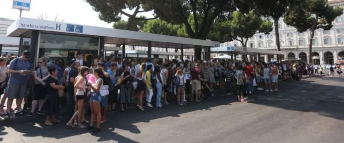 Public transport strike in Rome on 21 April