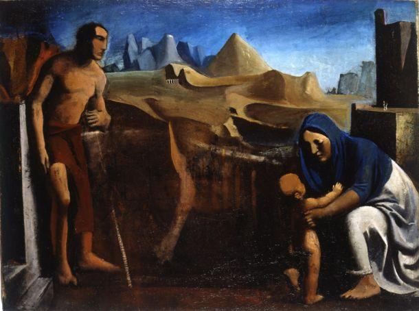 La famiglia del pastore by Mario Sironi.