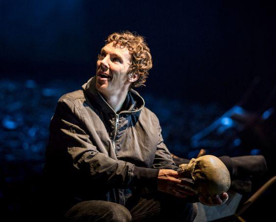 Benedict Cumberbatch in Hamlet at London's Barbican Theatre.