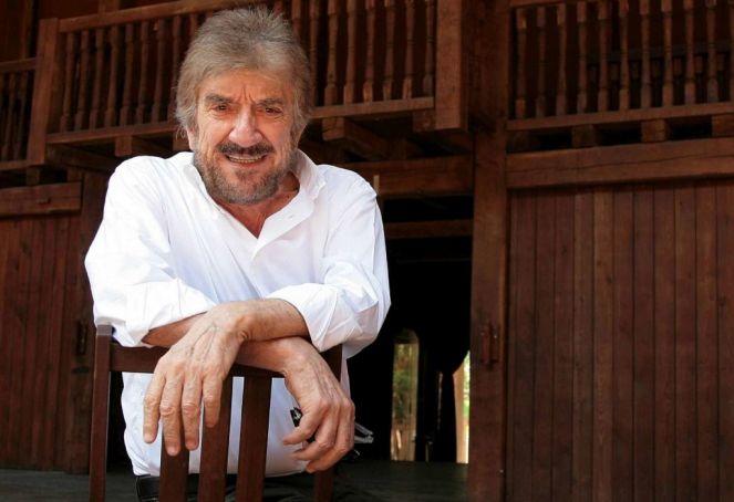 Gigi Proietti, artistic director of the Globe Theatre in Rome.