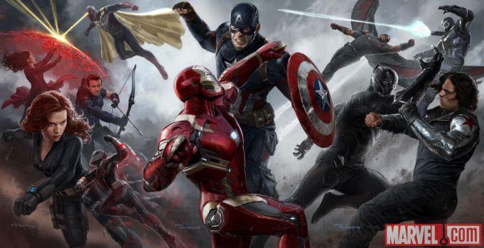 Captain America: Civil War showing in Rome
