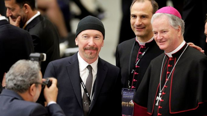U2 guitarist performs in Sistine Chapel
