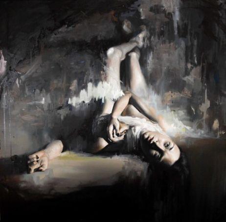 Gomez. Nox Omnibus Lucet - Untitle 1, Oil on canvas, 120x120 cm _ Galleria Varsi
