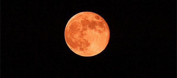 Strawberry moon for summer solstice in Rome