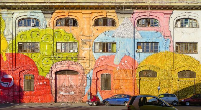 Street Art tour in Ostiense with Friends in Rome