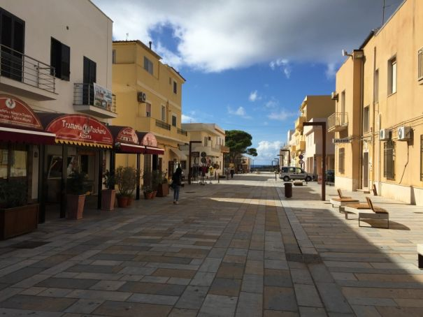 Lampedusa's main street Via Roma is set to host a new archaeological museum as the island looks to its cultural heritage to boost tourism. Photo Richard Hodges.