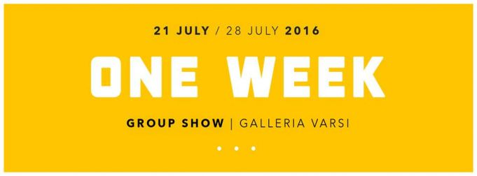 One Week show at Galleria Varsi