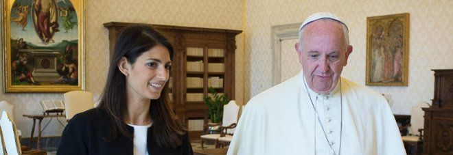 Rome's new mayor meets pope