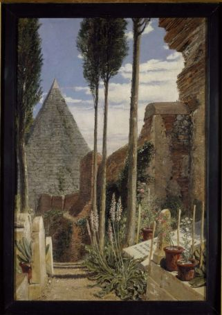 Shelley's grave in the Protestant Cemetery at Rome, 1873, by William Bell Scott (1811-1890).