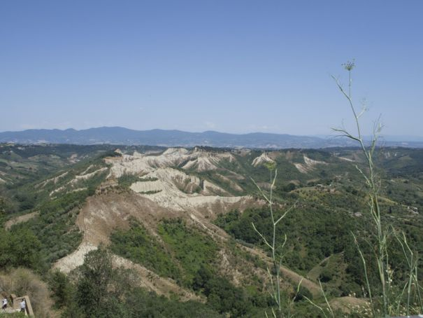 Civita is set amid the striking Calanchi Valley.