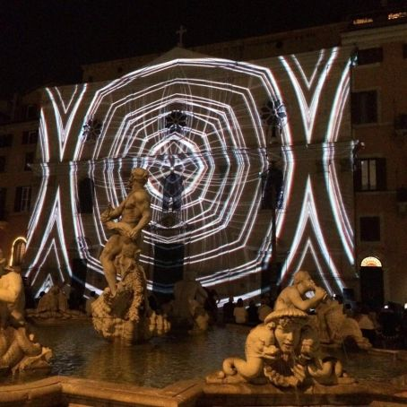 RO-map interactive light festival in Rome
