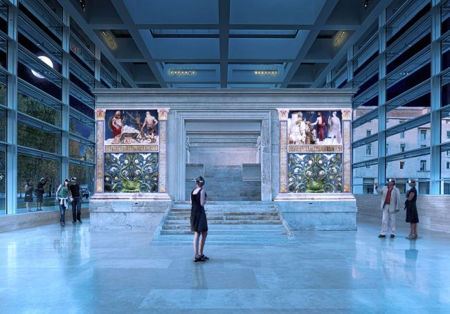 Rome's Ara Pacis revived with 3D colour