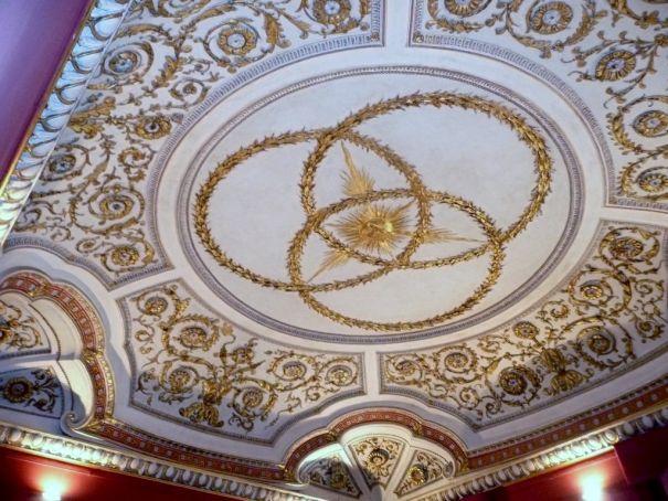 Baroque master Borromini decorated the ceilings of Palazzo Falconieri.