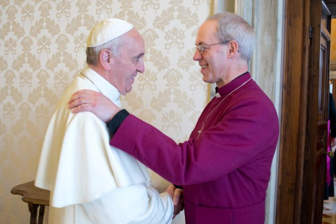 Pope Francis and Archbishop Justin Wekby have met several times.