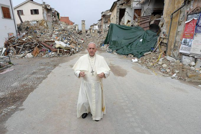 Pope visits earthquake-hit Amatrice
