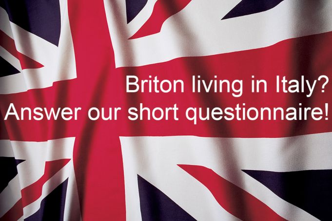 Online survey for British expats in Italy