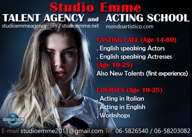 Acting drama classes in english