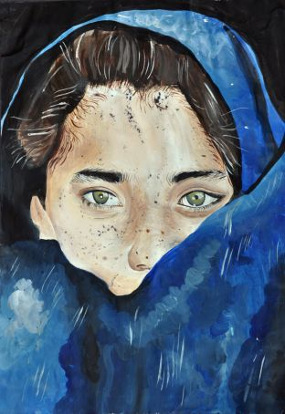 Portrait of a young Afghan girl by Carla Iannace.