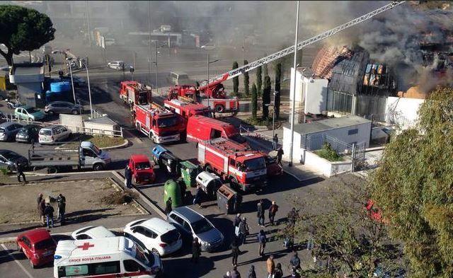 Fire destroys Rome's Pineta Sacchetti auditorium