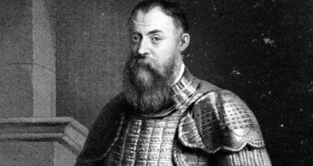 Hugh O'Neill depicted in an engraving by William Holl.