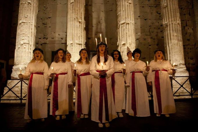 Sweden's S. Lucia comes to Rome