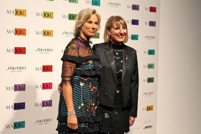 MAXXI president Giovanna Melandri with Ambassador Morris.