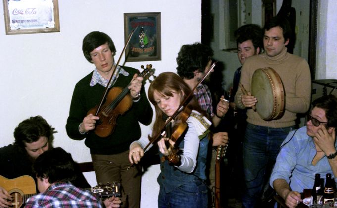 Traditional Irish musicians have played at Fiddler's for 40 years.