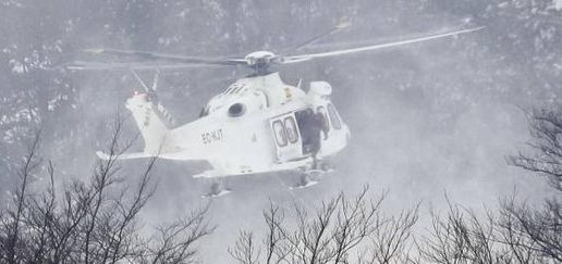 Emergency helicopter crashes near L'Aquila