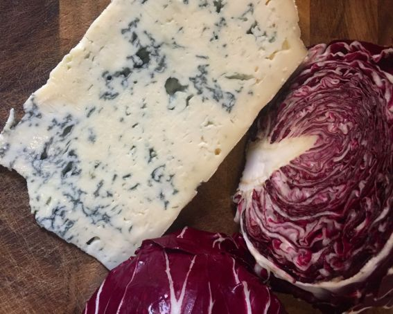 Risotto radicchio e gorgonzola 1