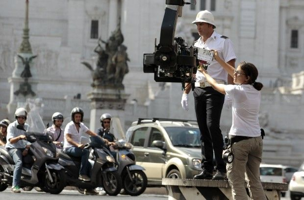 Filming for Woody Allen's To Rome With Love.