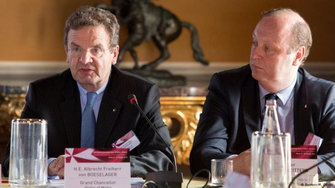 Albrecht von Boeselager (left) has been reinstalled as Grand Chancellor of the Knights of Malta.
