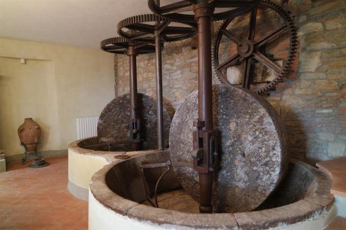 Old methods of pressing olives.