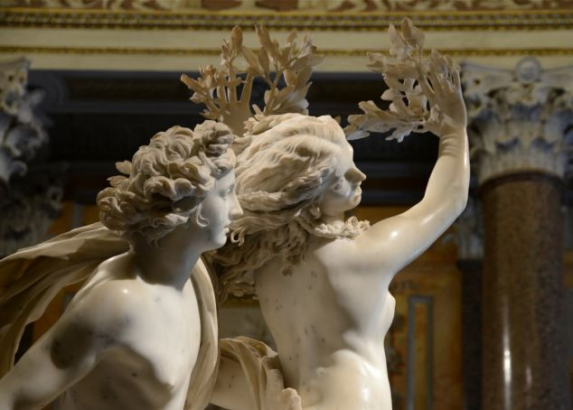 Bernini's Daphne and Apollo sculpture at Galleria Borghese.