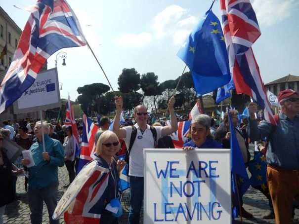 British in Italy (BiI) took part in the March for Europe in Rome on 25 March.