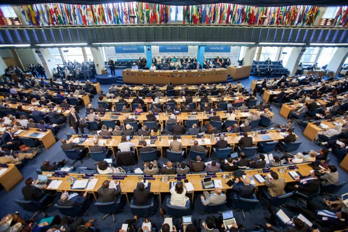 Plenary Hall at FAO.