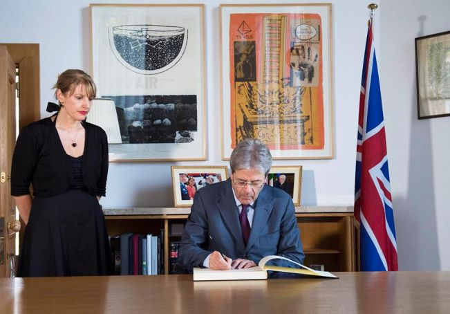British embassy book of condolence for Manchester