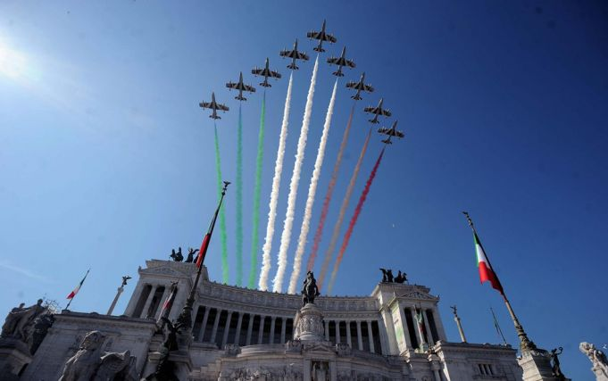 Frecce Tricolori. Photo La Presse.