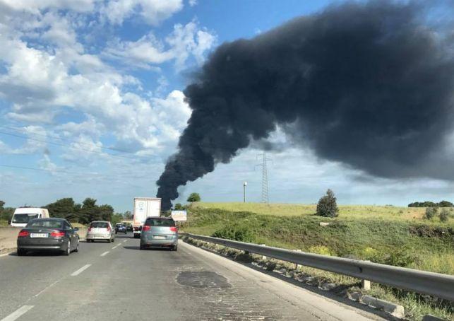 Rome rubbish site burns again