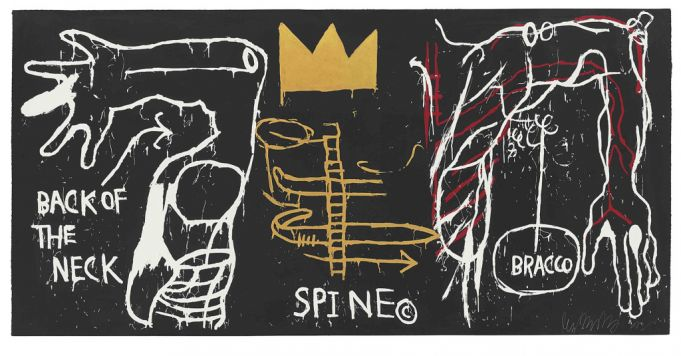 Back of the Neck was inspired by Basquiat's childhood accident.
