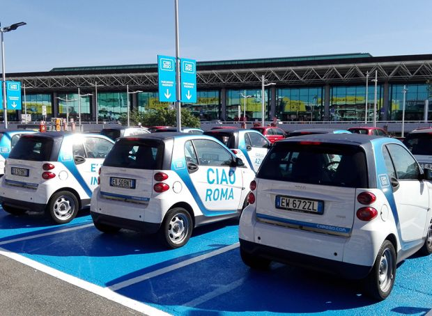 Car-sharing at Rome's Fiumicino airport
