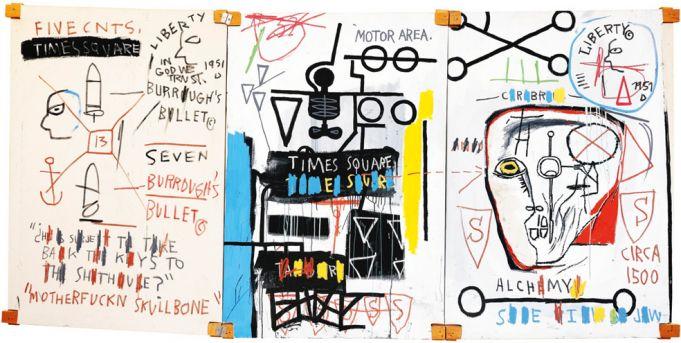 Five Fish Species by Basquiat at Chiostro del Bramante.