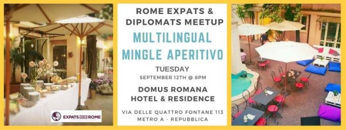 Rome Expats & Diplomats MultiLingual Mingle Aperitivo