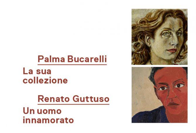Palma Bucarelli and Renato Guttuso exhibitions