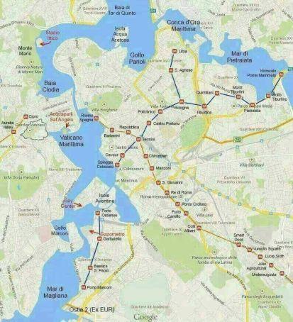 Rome's new Metro Map