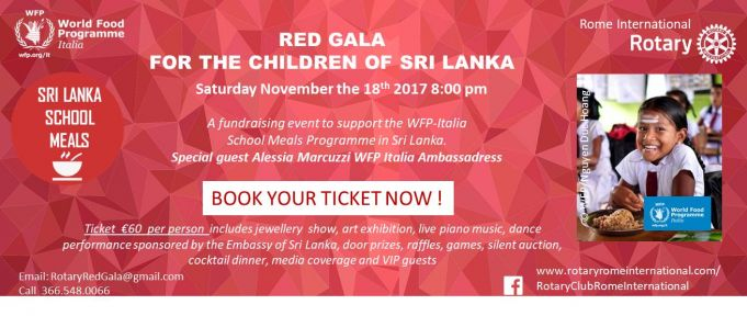 Red Gala for the Children of Sri Lanka