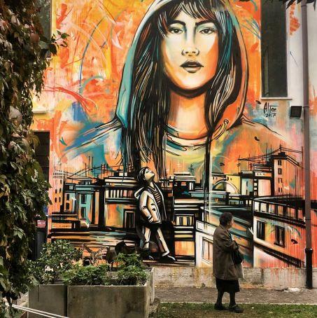 New Alice Pasquini mural in Rome
