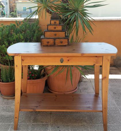 Hardwood console