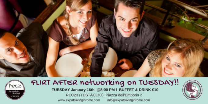 16 Jan - Rome Expats Flirt After Networking on Tuesday Aperitif